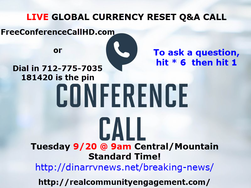 iraqi dinar conference call